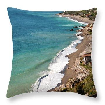 Sicilian Sea Sound Throw Pillow