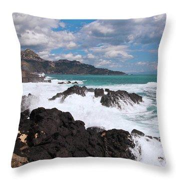 Sicilian Stormy Sound Throw Pillow