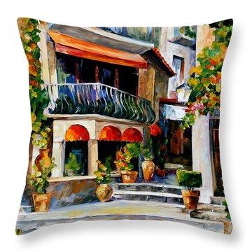 Sicily - Spring Morning Throw Pillow by Leonid Afremov