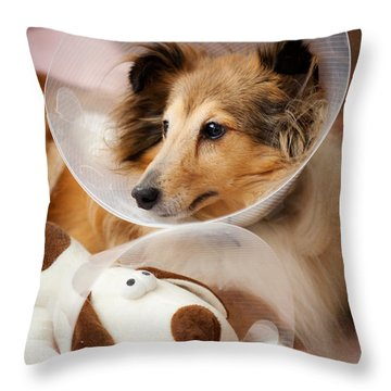 Sick Buddies Throw Pillow