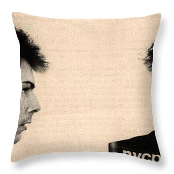 Sid Vicious Mugshot Throw Pillow by Bill Cannon