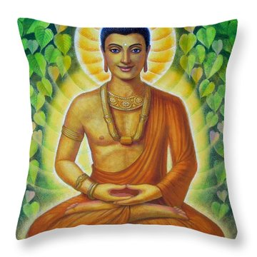 Throw Pillow featuring the painting Siddhartha by Sue Halstenberg