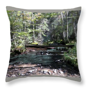 Side Brook Throw Pillow