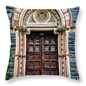 Side Entrance Throw Pillow by Christopher Holmes