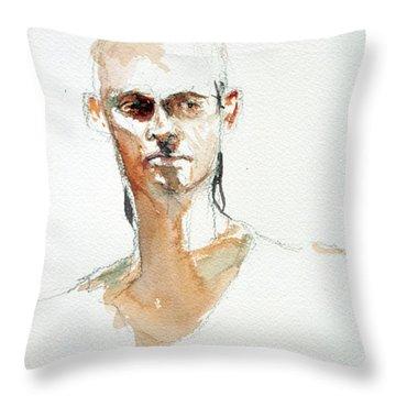 Side Glance Throw Pillow