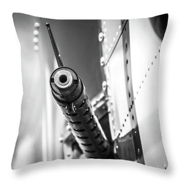Side Gunner B-25 Throw Pillow