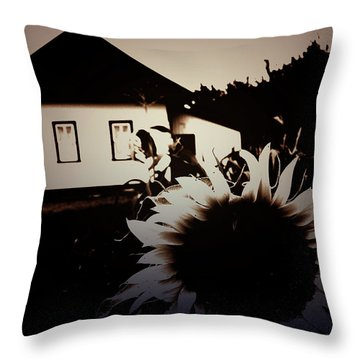 Side Of The Sun Throw Pillow by Empty Wall