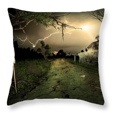Side Road Motel Throw Pillow by Svetlana Sewell