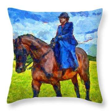 Throw Pillow featuring the photograph Side Saddle by Scott Carruthers