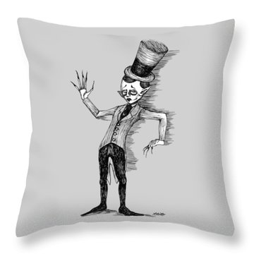 Side Show Performer Throw Pillow