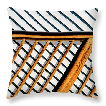 Side Step Throw Pillow by Paul Wear