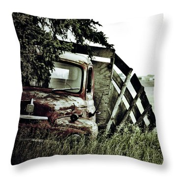 Side Stop Throw Pillow by Jerry Cordeiro
