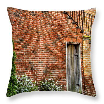 Throw Pillow featuring the photograph Side Streed Scene by Jim Dollar