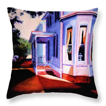 Side Street - Lambertville Throw Pillow by Robert Henne