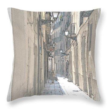 Side Street Throw Pillow