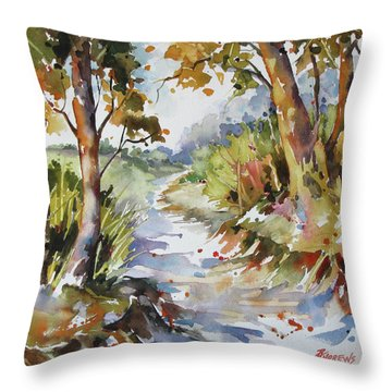 Side Track Throw Pillow