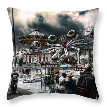 Sideshow Alley Throw Pillow