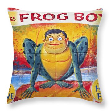 Sideshow Poster, C1945 Throw Pillow by Granger