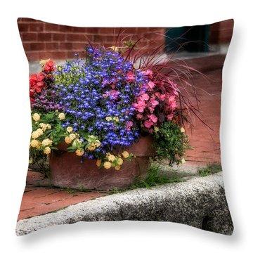 Sidewalk Beauty Throw Pillow