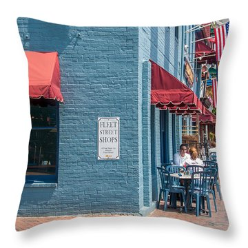 Sidewalk Cafe Annapolis Throw Pillow
