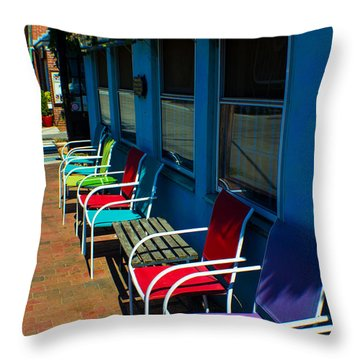 Sidewalk Cafe Throw Pillow