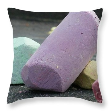 Sidewalk Chalk Collection Photo 3 Throw Pillow