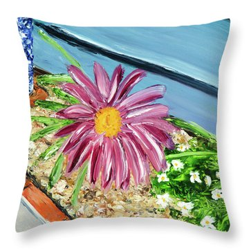 Sidewalk View Throw Pillow