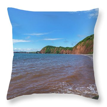 Throw Pillow featuring the photograph Sidmouth Jurassic Coast by Scott Carruthers