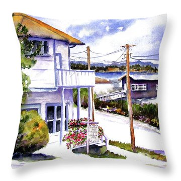 Throw Pillow featuring the painting Sidney Gallery by Marti Green