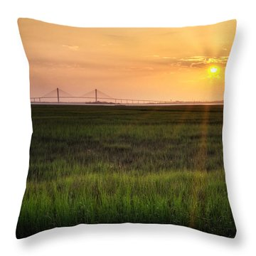Throw Pillow featuring the photograph Sidney Lanier At Sunset by Greg Mimbs