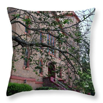 Throw Pillow featuring the photograph Sidney Park Cme Church by Skip Willits