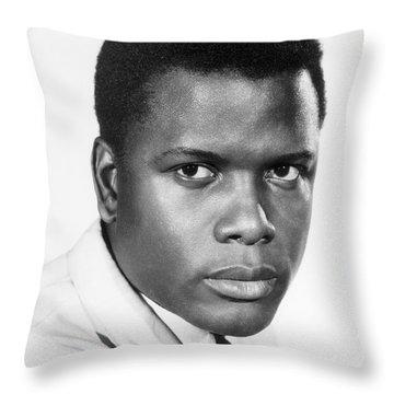 Sidney Poitier (1924-) Throw Pillow by Granger