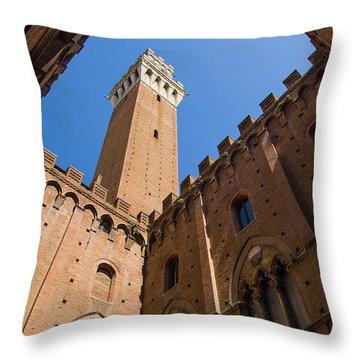 Siena Clock Tower Throw Pillow