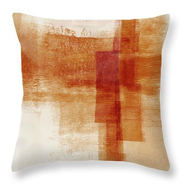 Sienna 1- Abstract Art By Linda Woods Throw Pillow