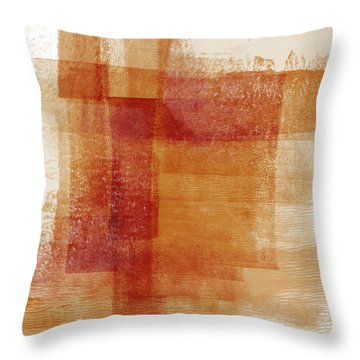 Sienna 2- Abstract Art By Linda Woods Throw Pillow