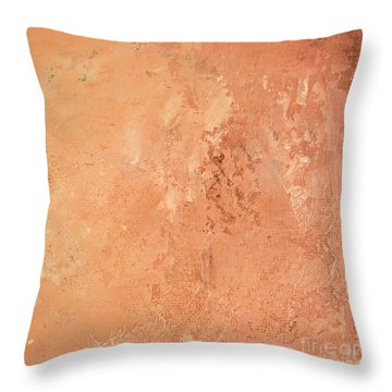 Sienna Rose Throw Pillow by Michael Rock