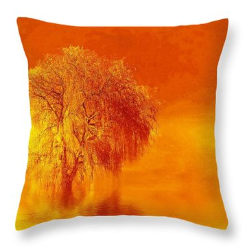 Sienna Throw Pillow by Valerie Anne Kelly