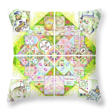 Sierpinski's Baseball Diamond Throw Pillow
