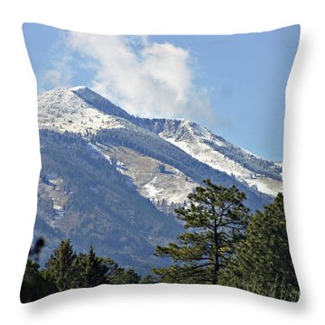 Sierra Blanca Clouds 4 Throw Pillow