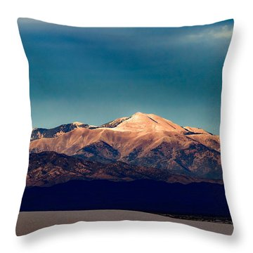Sierra Blanca Peak In New Mexico  Throw Pillow