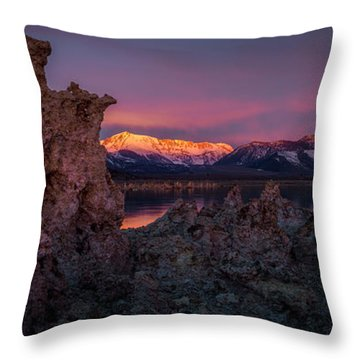 Sierra Glow Throw Pillow by Bjorn Burton