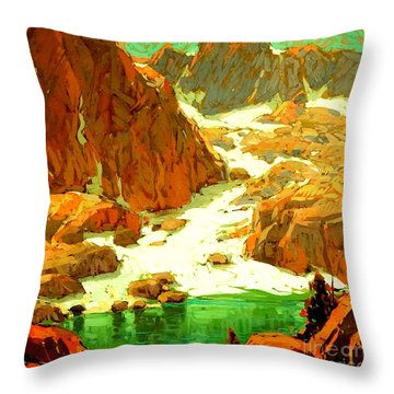 Sierra Landscape Circa 1920 Throw Pillow