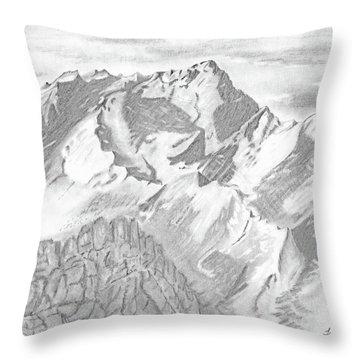 Sierra Mt's Throw Pillow