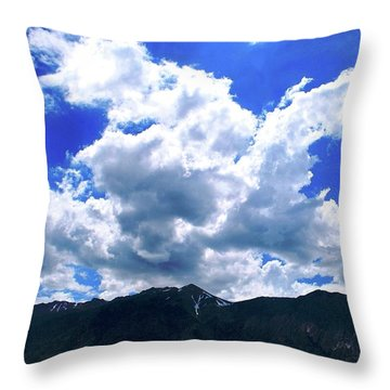 Sierra Nevada Cloudscape Throw Pillow