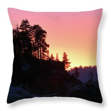 Sierra Nevada Dusk Throw Pillow