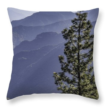 Sierra Nevada Foothills Throw Pillow by Steven Sparks