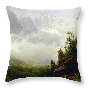 Sierra Nevada Mountains In California Throw Pillow