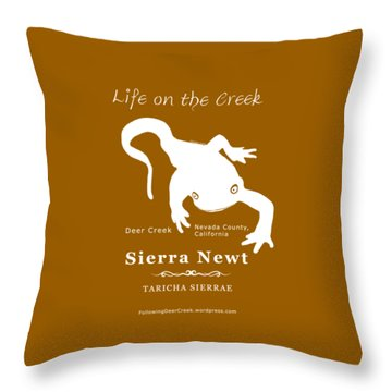 Sierra Newt - White Throw Pillow