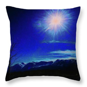 Sierra Night Throw Pillow