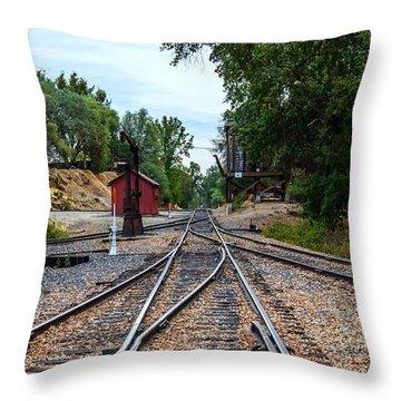 Sierra Railway Throw Pillow